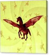 Demon Winged Horse Canvas Print