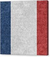Denim France Flag Illustration Canvas Print