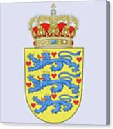 Denmark Coat Of Arms Canvas Print