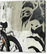 Denmark, Copenhagen Graffiti On Wall Canvas Print