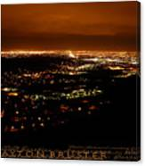 Denver Area At Night From Lookout Mountain Canvas Print
