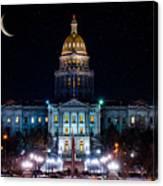 Denver Capital Nights Canvas Print