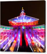 Denver City And County Building Lights Canvas Print