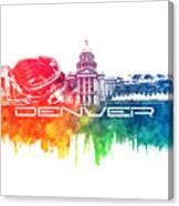 Denver Skyline City Color Canvas Print