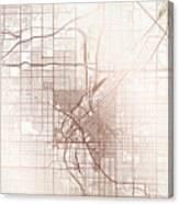 Denver Street Map Colorful Copper Modern Minimalist Digital Art by on