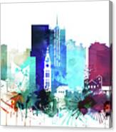 Denver Watercolor Skyline Canvas Print