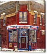 Depanneur De Montreal Pointe St Charles Best Original Montreal Paintings On Sale Peintures A Vendre  Canvas Print