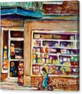 Depanneur St.viateur Canvas Print