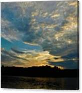 Departing Clouds Canvas Print