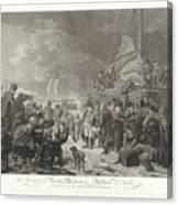 Departure Of Prince William V, 1795, Joannes Bemme, After Dirk Langendijk, After Christoffel Meijer, Canvas Print
