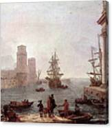 Departure Of Ulysses From The Land Of The Feaci  Canvas Print