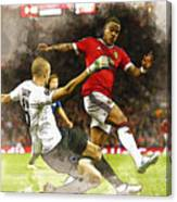Depay In Action Canvas Print