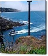 Depot Bay Fishing Boat Three Canvas Print