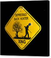 Depressed Buck Hunter Canvas Print