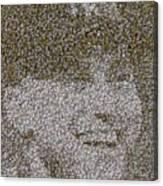 Derek Jeter Baseballs Mosaic Canvas Print