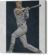Derek Jeter New York Yankees Art 2 Canvas Print