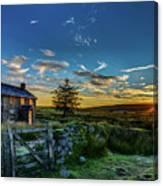 Derelict Cottage Nun's Cross, Dartmoor, Uk. Canvas Print