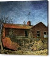 Derelict House Front Canvas Print