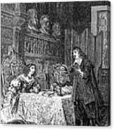 Descartes Teaching Queen Christina, 1649 Canvas Print