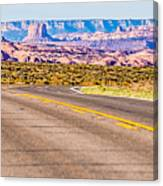 descending into Monument Valley at Utah  Arizona border  Canvas Print