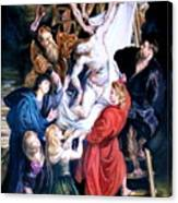 Descent From The Cross After Peter Paul Rubens Canvas Print