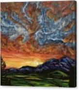 Descent On Mount Diablo Canvas Print