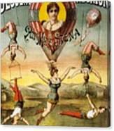 Descente D'absalon Par Miss Stena - Aerialists, Circus - Retro Travel Poster - Vintage Poster Canvas Print