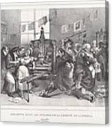 Descente Dans Les Ateliers De La Libert? De La Presse Canvas Print
