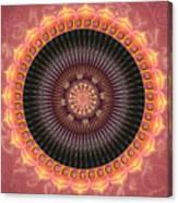 Desert Bloom Mandala Canvas Print