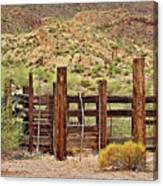 Desert Corral Canvas Print