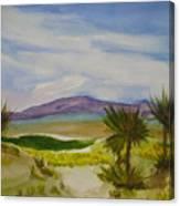 Desert Green Canvas Print