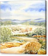 Desert Landscape Watercolor Canvas Print