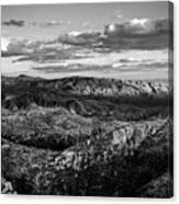 Desert Overlook #2 Bw Canvas Print