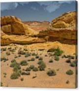 Desert Sandstone Cliffs Valley Of Fire Canvas Print