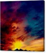 Desert Skull Of The Saguaro Sunset #3 Canvas Print