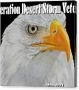 Desert Storm Eagle Canvas Print