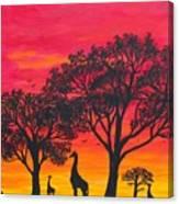 Desert Sunset 2 Canvas Print