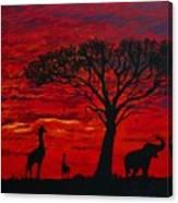 Desert Sunset 3 Canvas Print