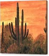 Desert Sunset I Canvas Print