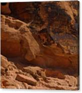 Desert Varnish Petroglyphs Valley Of Fire Canvas Print