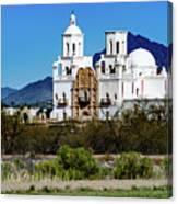 Desert View - San Xavier Mission - Tucson Arizona Canvas Print