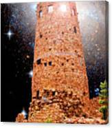 Desert View Tower, Starry Night, Grand Canyon Canvas Print
