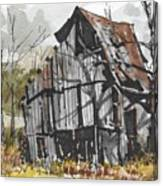 Deserted Barn Canvas Print