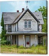 Deserted Oklahoma Farmhouse Canvas Print