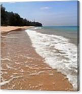 Deserted Shore Of The Island Of Tioman Canvas Print