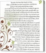 Desiderata Daisy Vines Canvas Print