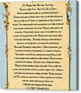 Desiderata Poem On Antique Paris Postcard Canvas Print