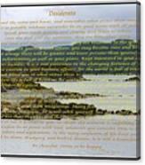 Desiderata Rugged Coastline Canvas Print