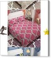 Designer Bed Sheet To Decor Home Canvas Print