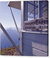 Desolation Peak Fire Lookout Cabin Sign Canvas Print